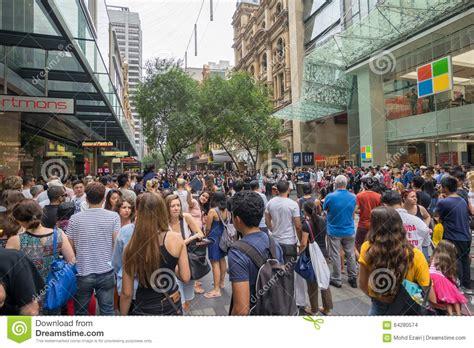 sydney australia december 26 2015 croud of people at