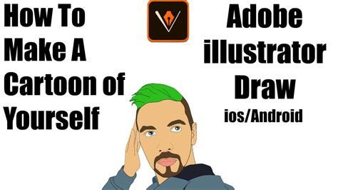 draw yourself illustrator how to make a cartoon of yourself adobe illustrator draw