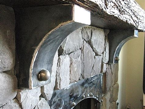 Metal Fireplace Corbels Creating An World Cultured Fireplace Without