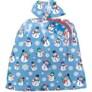 plastic jumbo snowman holiday gift bag walmart com