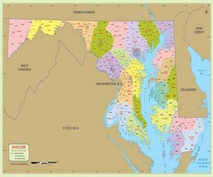 map of maryland zip codes free maryland county map maryland counties