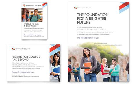 Community College Newsletter Template Design College Flyer Template