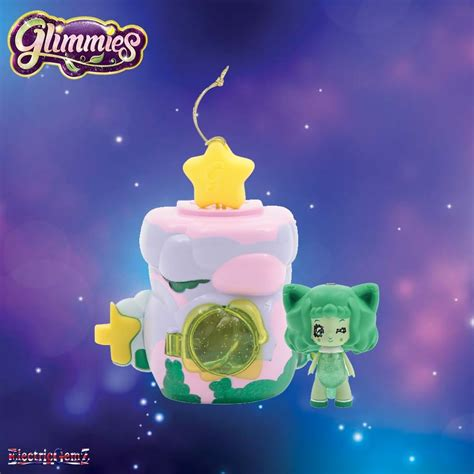 lilac house glimmies glimhouse with doll lilac house with green glimmie