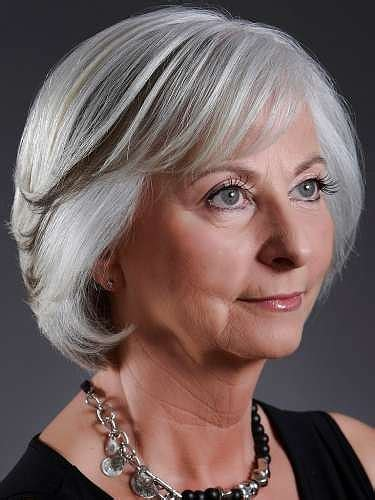 Hairstyles For Gray Hair Women Over 55 | short hairstyles for grey hair women over 50