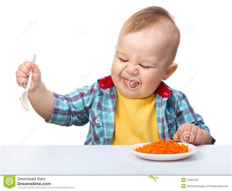 refuses to eat boy refuses to eat stock image image 19497531