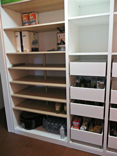 IKEA PAX units with Komplement drawers for a pantry