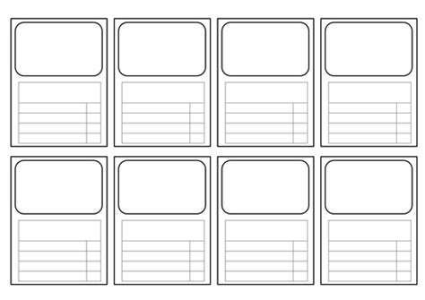 blank top trumps card template templates for top trumps style cards all subjects by