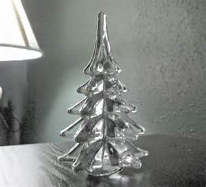 Vase Crystals Vintage 5 5 Quot Art Glass Clear Solid Crystal Christmas Tree