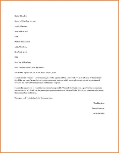 breaking lease letter breaking lease letter template business