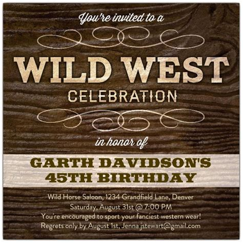 Rudolph The Red Nosed Reindeer Wild West Celebration Birthday Invitations Paperstyle