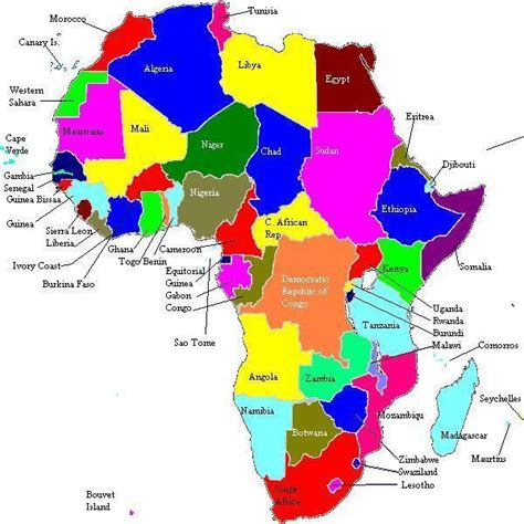africa map by country africa maps africa