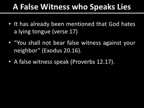 definition borne false witness proverbs to live by