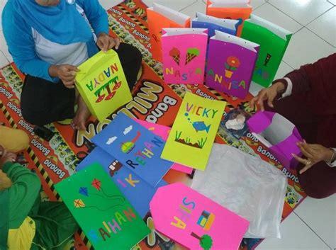 membuat tas anak sendiri membuat tas karya anak dari kertas pembungkus hvs kado