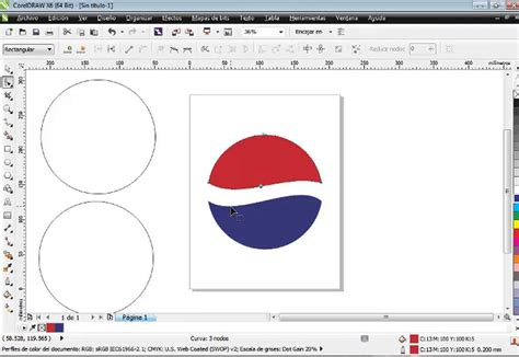 corel draw pepsi logo tutorial logo de pepsi en corel draw x6 facil y rapido youtube