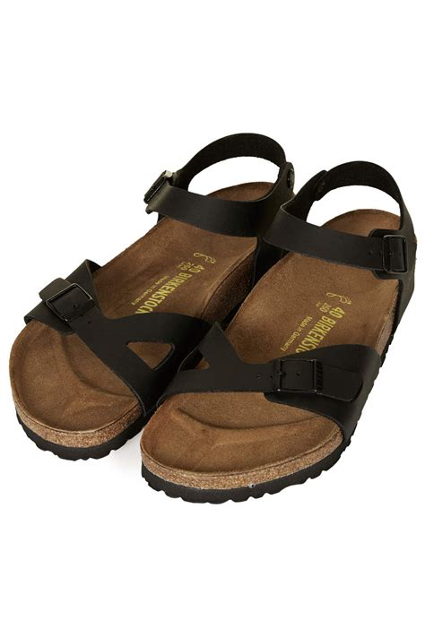berkinstock slippers lyst topshop birkenstock sandals in black
