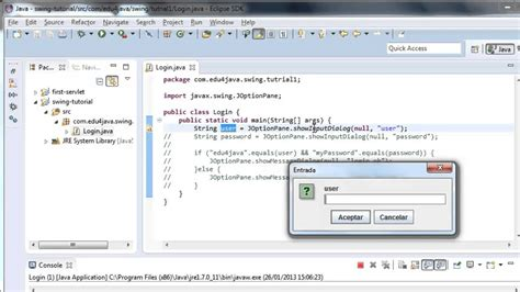 java swing input dialog boxes showmessagedialog and showinputdialog video