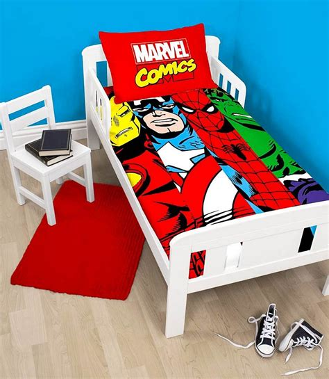 avengers toddler bed set marvel avengers comics duvet quilt cover bedding set for