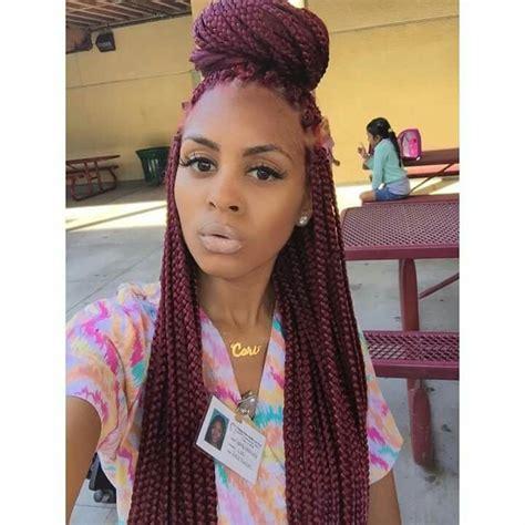 diy poetic justice box braids natural hair rules diy burgundy box braids poetic justice braids the 25
