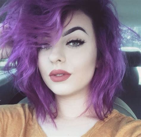 colorful short hair styles 411 best purple hair images on pinterest purple hair