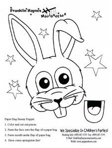 easter bunny paper bag puppet template a to z stuff easter