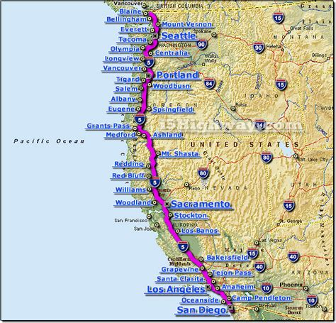 i 5 interstate 5 road maps traffic news