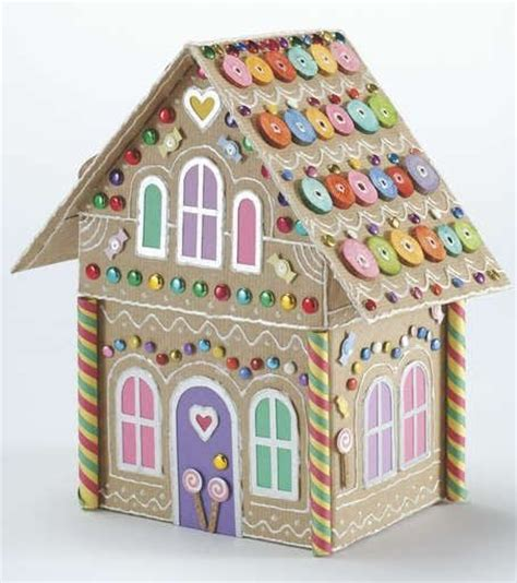 Gingerbread House Paper Craft - gingerbread house paper crafts bags boxes