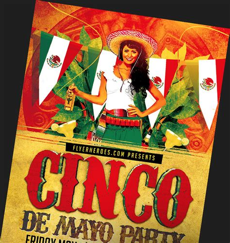 Cinco De Mayo Flyer Templates For Photoshop Flyerheroes Cinco De Mayo Template