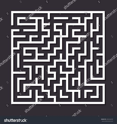 How To Make A Maze On Paper - maze paper labyrinth vector illustration simple stock