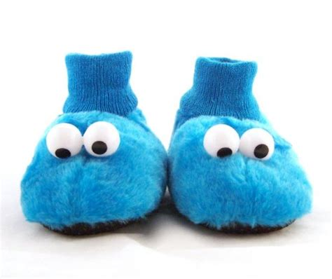 cookie monster house shoes sesame street cookie monster toddler sock top quot slipper puppets quot blue plush slippers