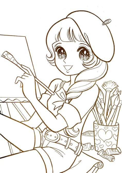 kawaii anime coloring pages aeromachia shojo manga no memory hi loreface