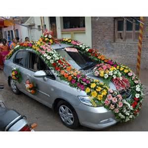 Indian Wedding Car Decoration Wedding Car Decoration Apscar001