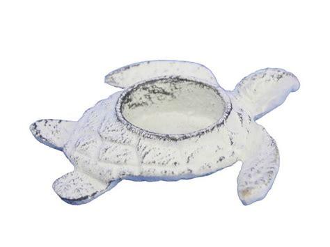 Sea Turtle Home Decor Buy Whitewashed Cast Iron Turtle Decorative Tealight Holder 4 5 Inch