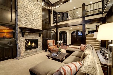 Dream Home Living Room Transitional Living Room Minneapolis by Divine Custom Homes