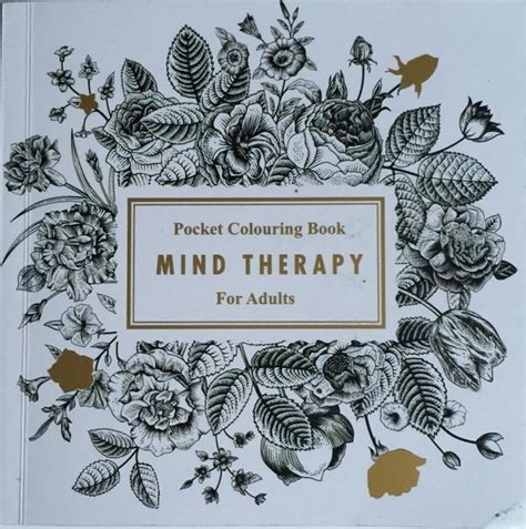 mind therapy mind therapy pocket colouring book for adults coloring