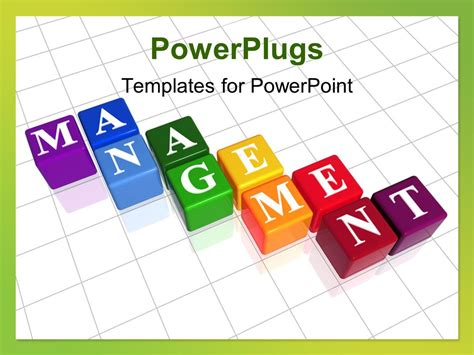 templates powerpoint management powerpoint template colorful boxes with word management