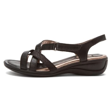 ecco sandals womens ecco women s sensata sandal cross sandals in black
