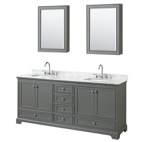 wyndham bathroom vanities deborah 80 quot double bathroom vanity by wyndham collection dark gray free shipping modern