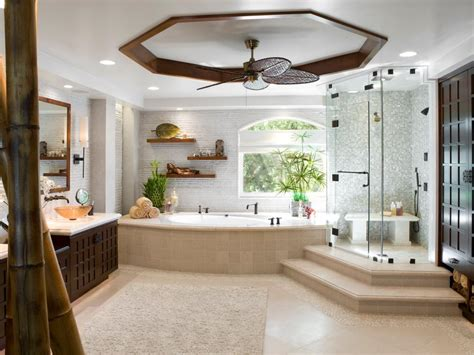 luxury spa bathroom designs luxurious showers hgtv