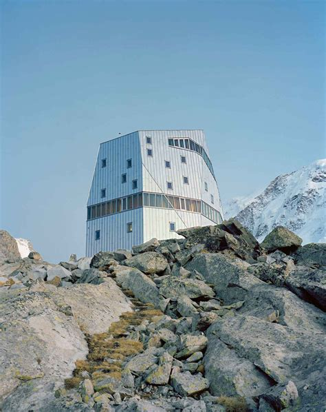 monte rosa hutte monte rosa hut in switzerland by bearth deplazes