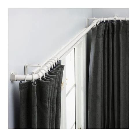 corner window curtain rod set 25 best ideas about corner window curtains on pinterest