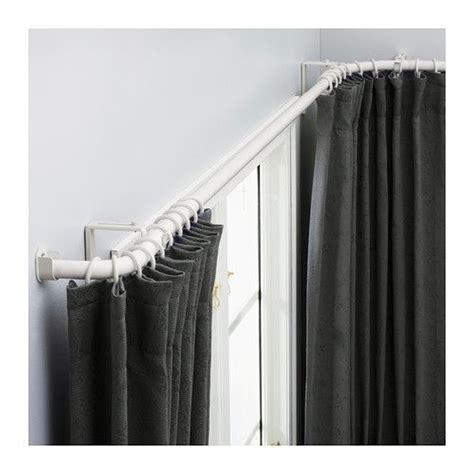 bay window curtain rod ikea hugad curtain rod combination bay window white