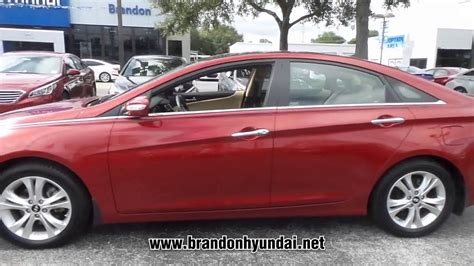 Brandon Mitsubishi Hyundai by Used 2013 Hyundai Sonata Limited At Brandon Hyundai
