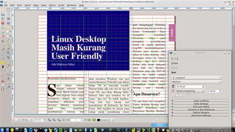 desain layout dengan bootstrap desain layout buku dan majalah dengan scribus tutorial