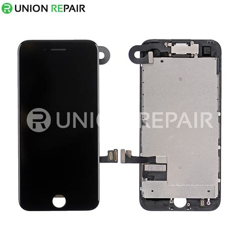 replacement for iphone 7 lcd screen assembly without home button black