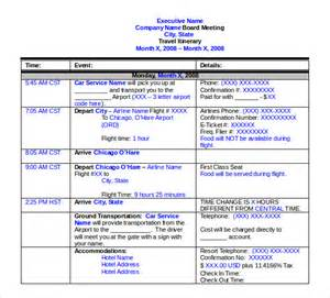 itinerary travel template travel itinerary template free premium templates