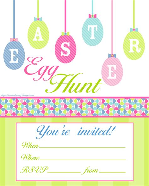 easter invitation template easter colouring easter egg hunt invitations