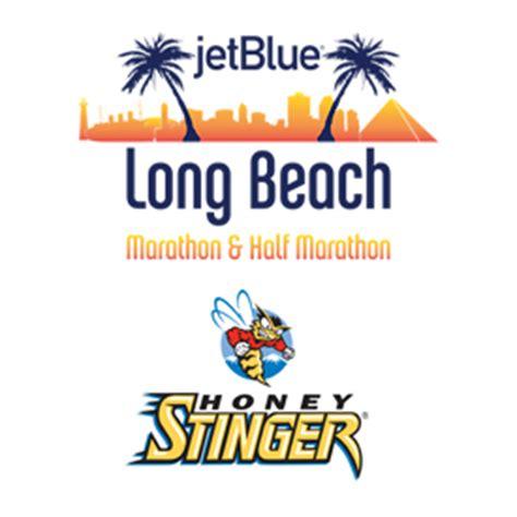 run long beach jetblue long beach marathon and half marathon honey stinger named official on course gel of the jetblue
