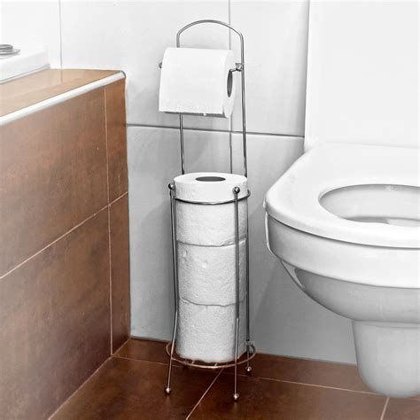 Bathroom Toilet Storage Free Standing 4 Roll Bathroom Toilet Paper Tissue Dispenser Storage Holder Stand Ebay