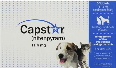flea and tick pill for dogs capstar flea tablets for dogs cats 2 25 lbs 11 4 mg tablet 6 pack chewy