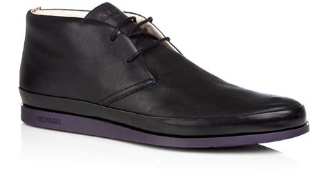 paul smith loomis chukka boots in black for lyst
